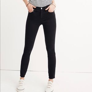 "Madewell 9"" High Rise Skinny black denim"